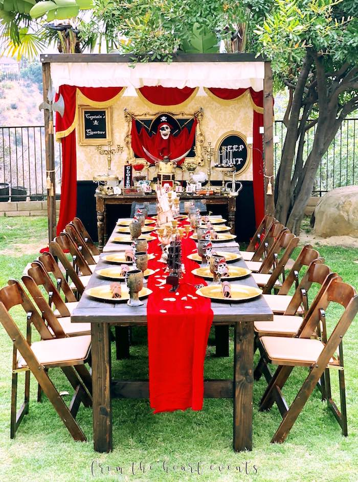 Pirates of the Caribbean-inspired Guest + Party Tables from a Pirates of the Caribbean Birthday Party on Kara's Party Ideas | KarasPartyIdeas.com (39)