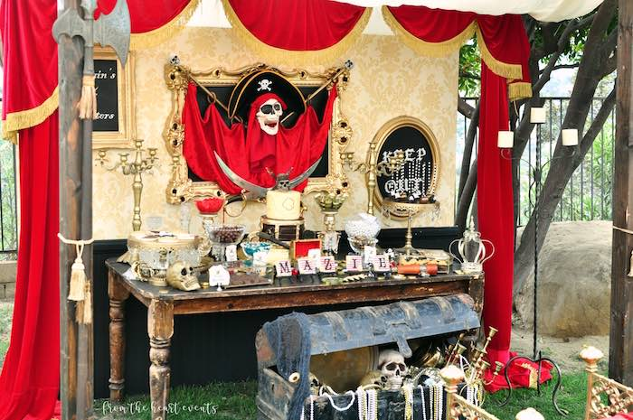 Pirates of the Caribbean Dessert Table from a Pirates of the Caribbean Birthday Party on Kara's Party Ideas | KarasPartyIdeas.com (35)