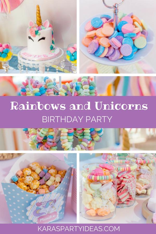 Kara S Party Ideas Rainbows And Unicorns Birthday Party