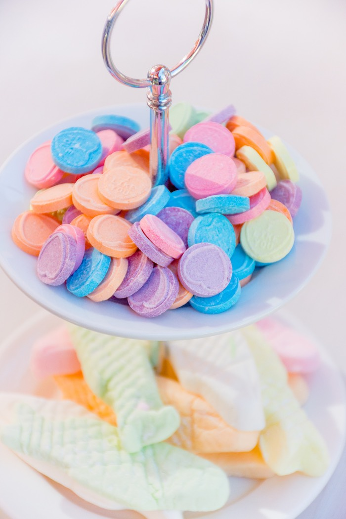 Hard Candy Hearts from a Rainbows and Unicorns Birthday Party on Kara's Party Ideas | KarasPartyIdeas.com (26)