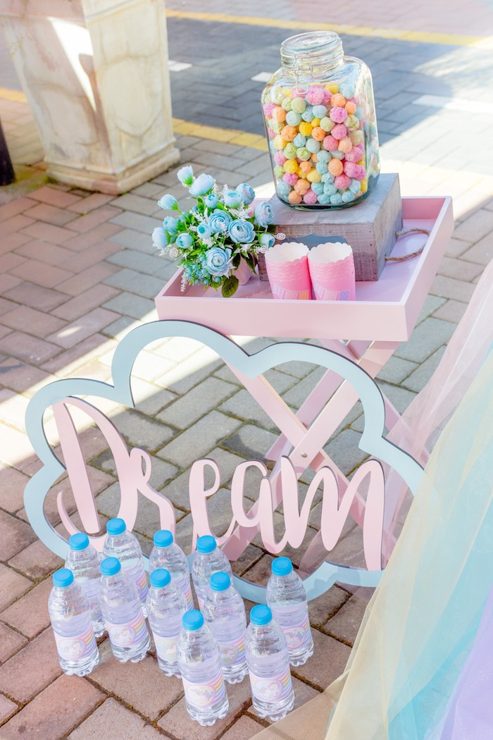 Dream Sweet Table + Signage from a Rainbows and Unicorns Birthday Party on Kara's Party Ideas | KarasPartyIdeas.com (21)