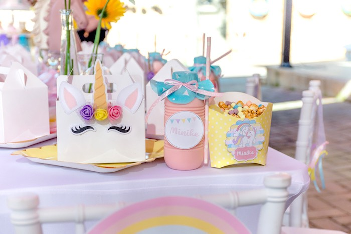Unicorn Lunchbox Table Setting from a Rainbows and Unicorns Birthday Party on Kara's Party Ideas | KarasPartyIdeas.com (36)