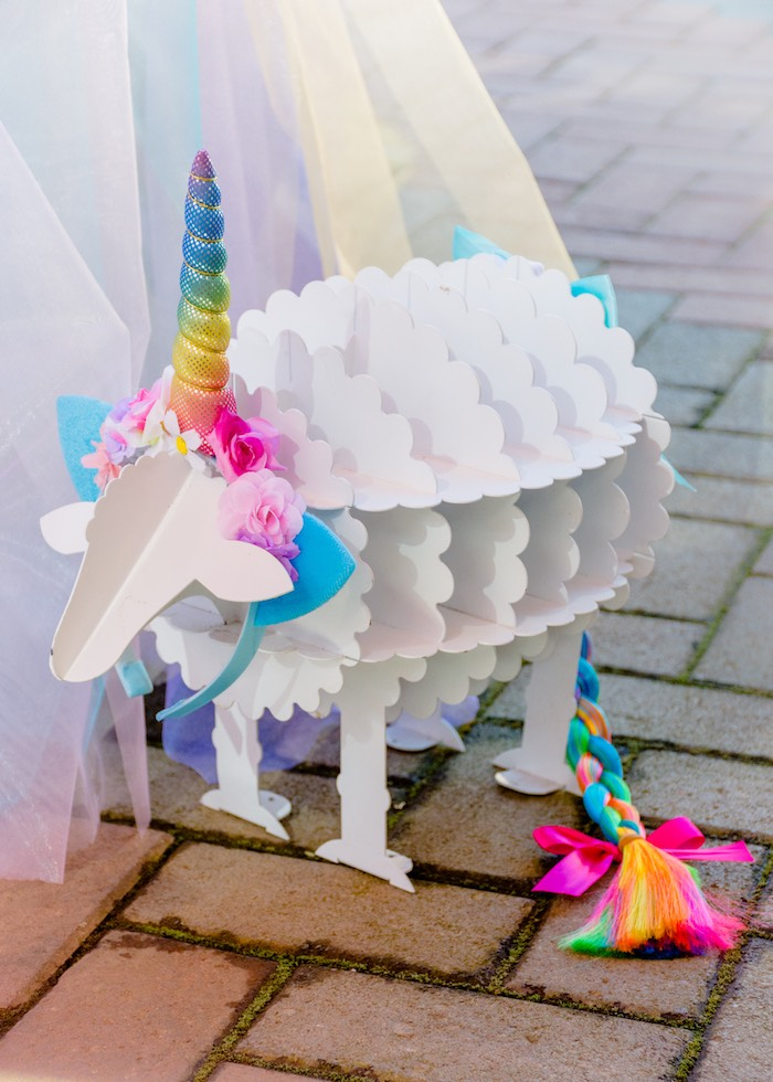 Unicorn Sheep from a Rainbows and Unicorns Birthday Party on Kara's Party Ideas | KarasPartyIdeas.com (14)