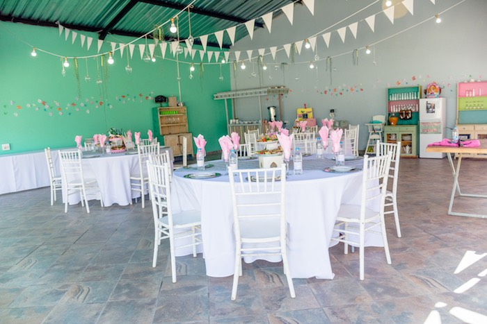 Guest Tables from a Rainbows and Unicorns Birthday Party on Kara's Party Ideas | KarasPartyIdeas.com (10)
