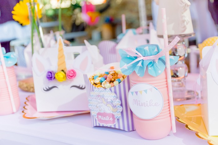 Unicorn Table Setting from a Rainbows and Unicorns Birthday Party on Kara's Party Ideas | KarasPartyIdeas.com (33)