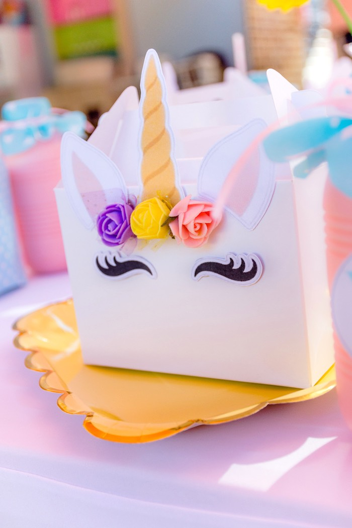 Unicorn Lunchbox from a Rainbows and Unicorns Birthday Party on Kara's Party Ideas | KarasPartyIdeas.com (29)