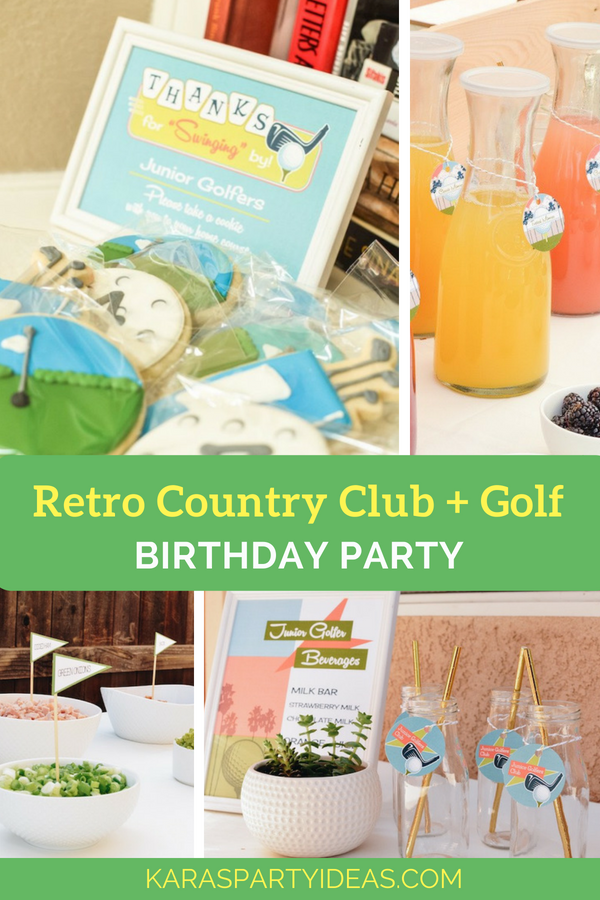 Retro Country Club + Golf Birthday Party via Kara_s Party Ideas - KarasPartyIdeas.com