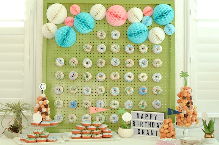 Golf Party Dessert Table from a Retro Country Club + Golf Birthday Party on Kara's Party Ideas | KarasPartyIdeas.com (28)