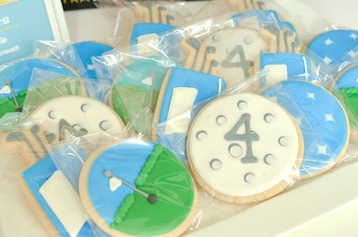 Golf Cookies from a Retro Country Club + Golf Birthday Party on Kara's Party Ideas | KarasPartyIdeas.com (27)
