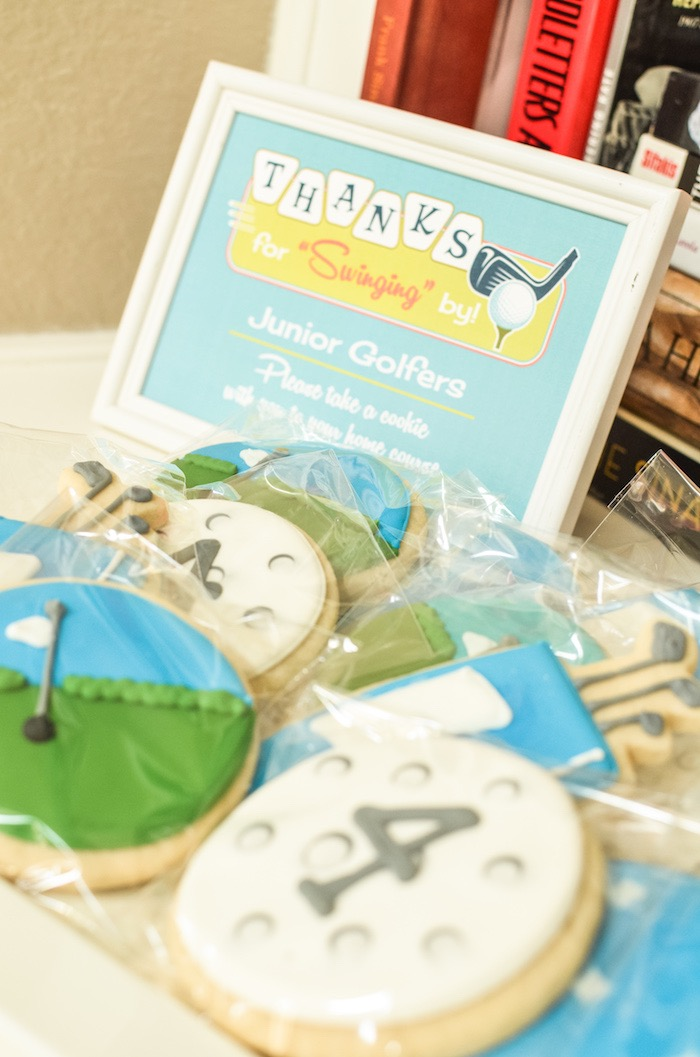 Swinging by Cookie Favors from a Retro Country Club + Golf Birthday Party on Kara's Party Ideas | KarasPartyIdeas.com (25)