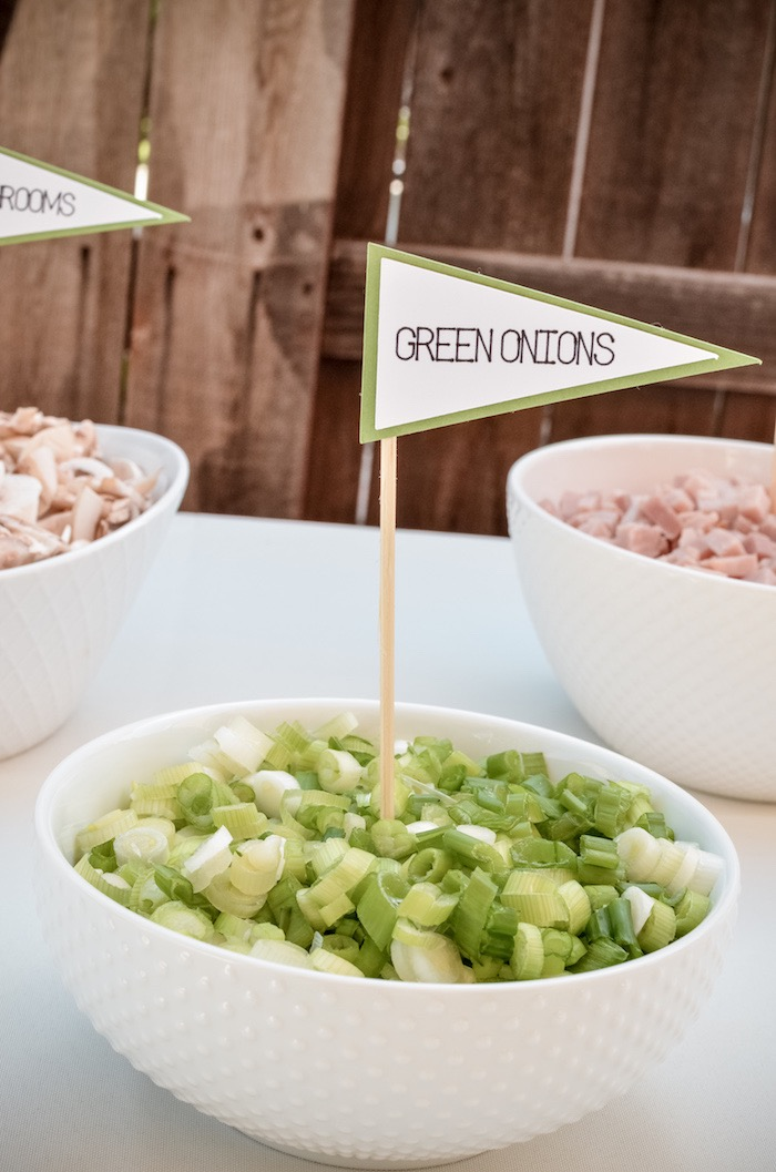 Flagged Brunch Bar Toppings from a Retro Country Club + Golf Birthday Party on Kara's Party Ideas | KarasPartyIdeas.com (22)