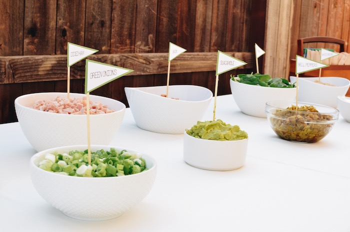 Flagged Brunch Bar Toppings from a Retro Country Club + Golf Birthday Party on Kara's Party Ideas | KarasPartyIdeas.com (21)