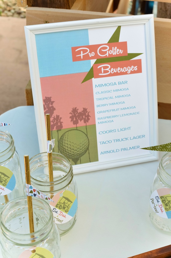 Pro Golfer Beverage Bar Signage from a Retro Country Club + Golf Birthday Party on Kara's Party Ideas | KarasPartyIdeas.com (14)