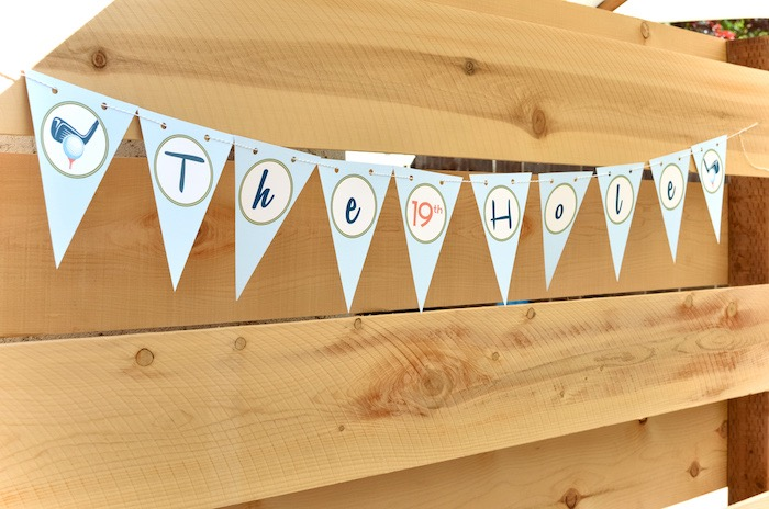 19th Hole Pennant Banner from a Retro Country Club + Golf Birthday Party on Kara's Party Ideas | KarasPartyIdeas.com (13)