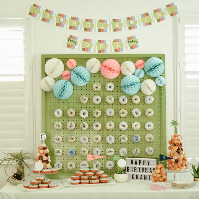Golf Themed Sweet Table from a Retro Country Club + Golf Birthday Party on Kara's Party Ideas | KarasPartyIdeas.com (36)
