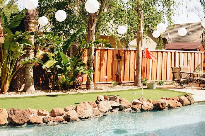 Green from a Retro Country Club + Golf Birthday Party on Kara's Party Ideas | KarasPartyIdeas.com (5)