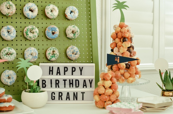 Golf Themed Sweet Table from a Retro Country Club + Golf Birthday Party on Kara's Party Ideas | KarasPartyIdeas.com (34)