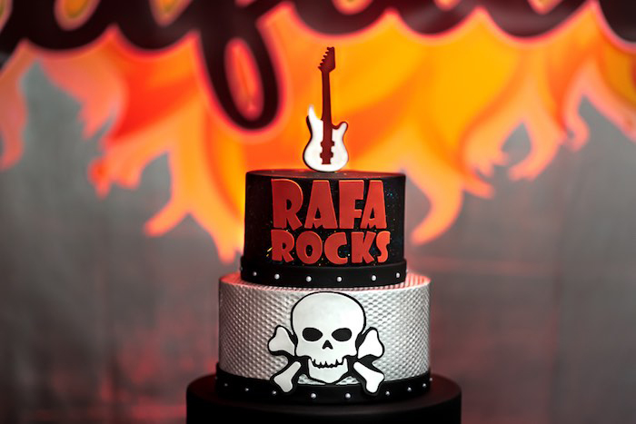 Rock 'n Roll Cake from a Rock 'n Roll Birthday Party on Kara's Party Ideas | KarasPartyIdeas.com (10)