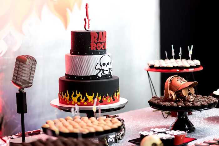 Rockin' Dessert Table from a Rock 'n Roll Birthday Party on Kara's Party Ideas | KarasPartyIdeas.com (7)