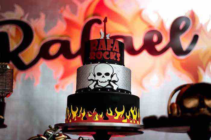 Rock n' Roll Birthday Cake from a Rock 'n Roll Birthday Party on Kara's Party Ideas | KarasPartyIdeas.com (5)