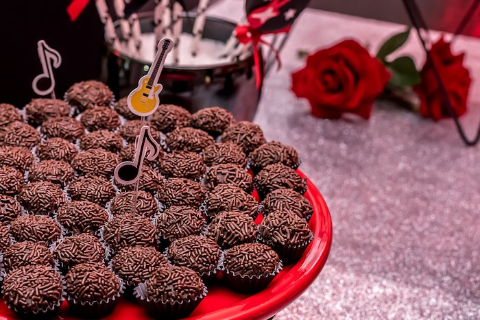 Rockin' Brigadeiros from a Rock 'n Roll Birthday Party on Kara's Party Ideas | KarasPartyIdeas.com (23)