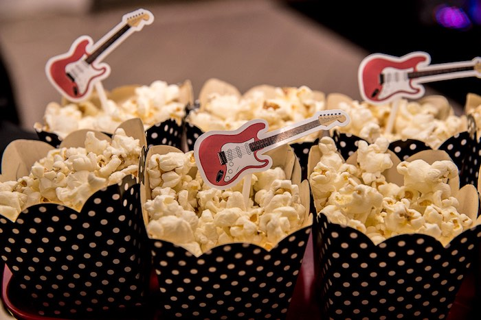 Rockstar Popcorn from a Rock 'n Roll Birthday Party on Kara's Party Ideas | KarasPartyIdeas.com (2)