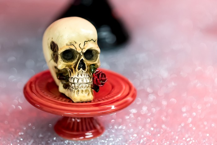 Rose Skull from a Rock 'n Roll Birthday Party on Kara's Party Ideas | KarasPartyIdeas.com (16)