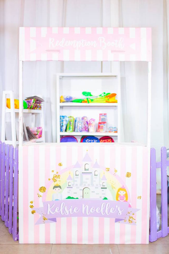 Redemption + Prize Booth from a Royal Princess Birthday Party on Kara's Party Ideas | KarasPartyIdeas.com (15)