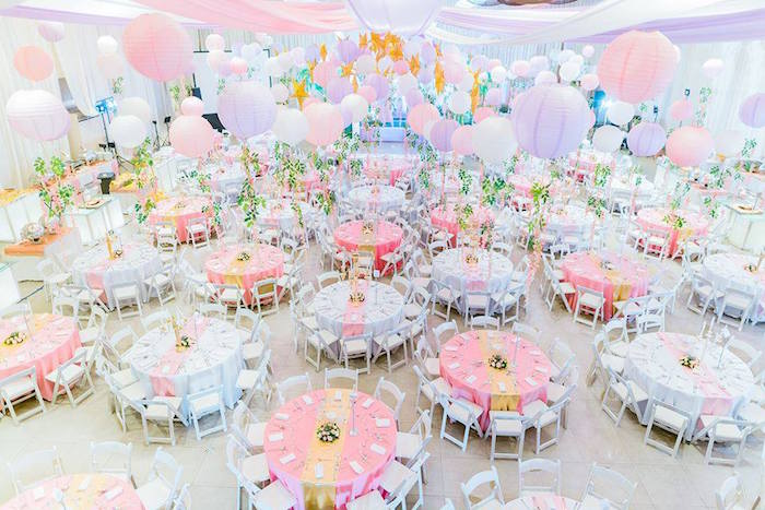 Guest Tables + Partyscape from a Royal Princess Birthday Party on Kara's Party Ideas | KarasPartyIdeas.com (10)