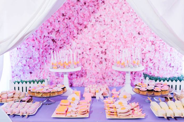 Dessert Table from a Royal Princess Birthday Party on Kara's Party Ideas | KarasPartyIdeas.com (9)