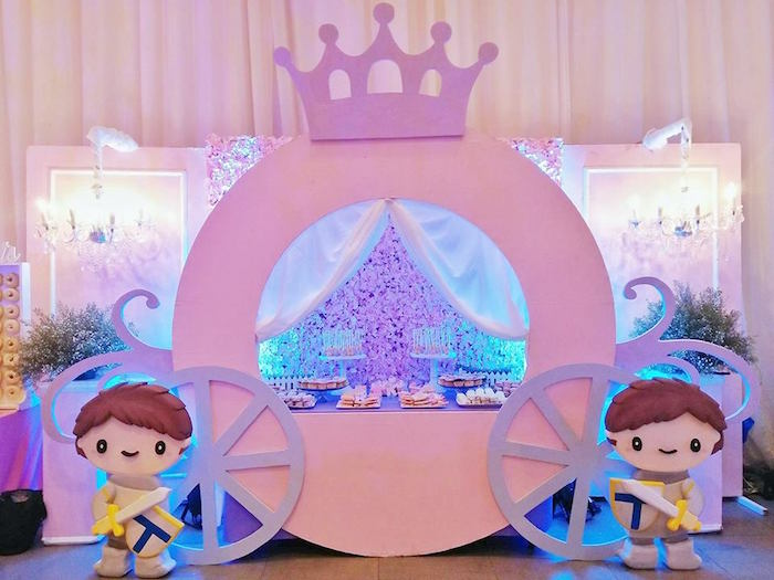 Pink Princess Carriage Dessert Table from a Royal Princess Birthday Party on Kara's Party Ideas   KarasPartyIdeas.com (24)