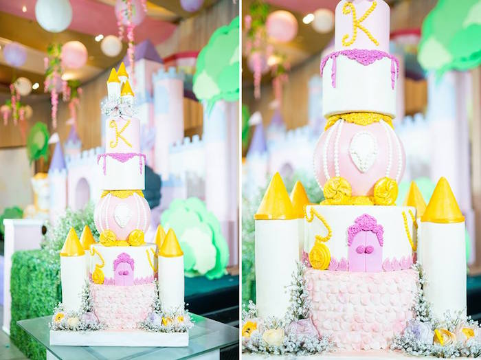 Royal Castle Cake from a Royal Princess Birthday Party on Kara's Party Ideas | KarasPartyIdeas.com (5)