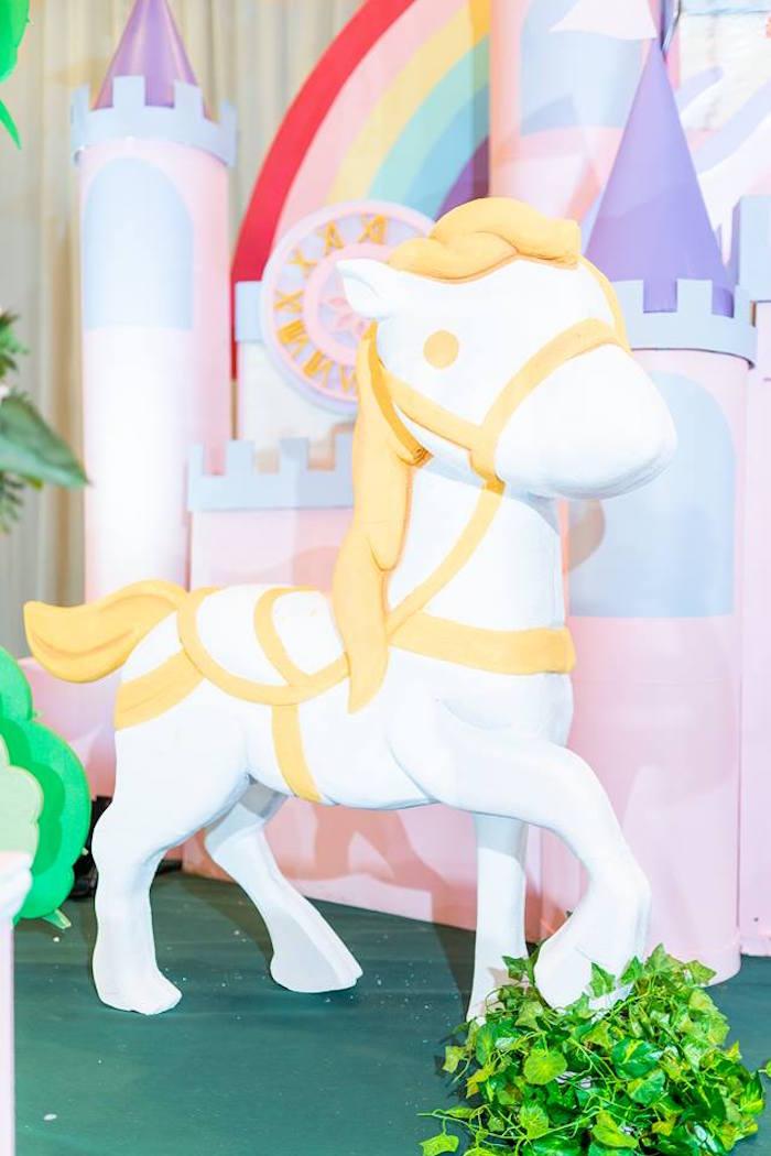 Royal Horse Prop from a Royal Princess Birthday Party on Kara's Party Ideas   KarasPartyIdeas.com (23)