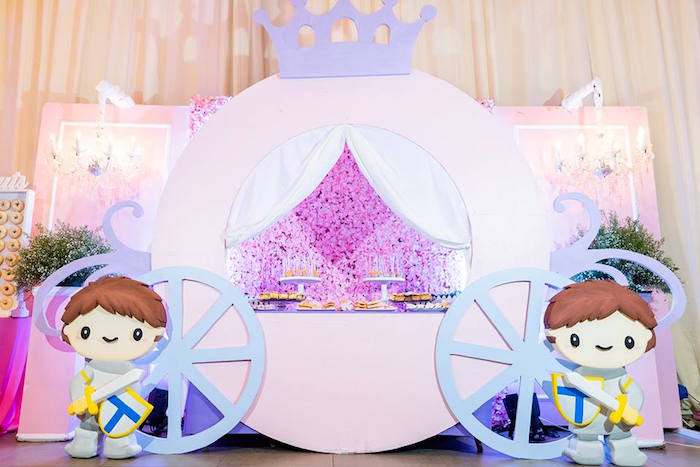 Princess Carriage Dessert Table from a Royal Princess Birthday Party on Kara's Party Ideas | KarasPartyIdeas.com (22)
