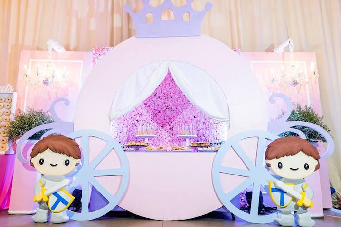 Princess Carriage Dessert Table from a Royal Princess Birthday Party on Kara's Party Ideas   KarasPartyIdeas.com (22)