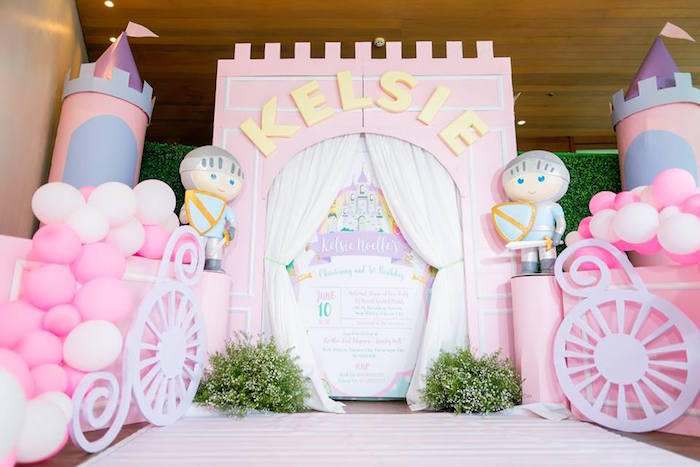 Castle Entrance Milestone Board from a Royal Princess Birthday Party on Kara's Party Ideas | KarasPartyIdeas.com (19)