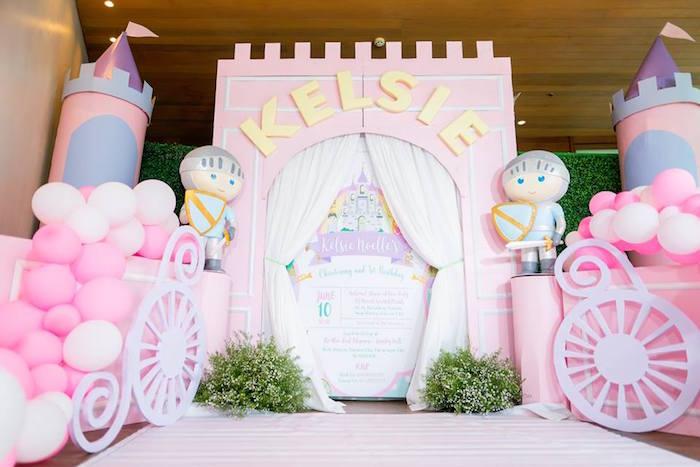 Castle Entrance Milestone Board from a Royal Princess Birthday Party on Kara's Party Ideas   KarasPartyIdeas.com (19)