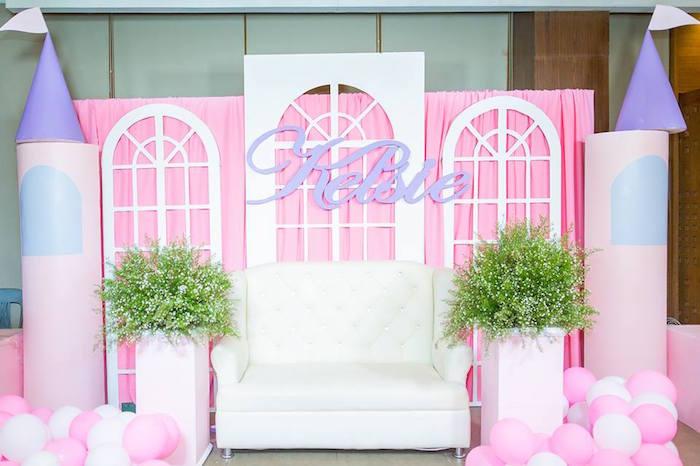 Window Lounge from a Royal Princess Birthday Party on Kara's Party Ideas   KarasPartyIdeas.com (18)