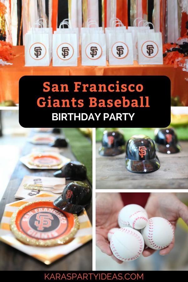 San Francisco Giants Baseball Birthday Party via Kara_s Party Ideas - KarasPartyIdeas.com
