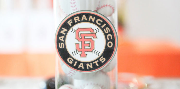 San Francisco Giants Baseball Birthday Party on Kara's Party Ideas | KarasPartyIdeas.com (1)