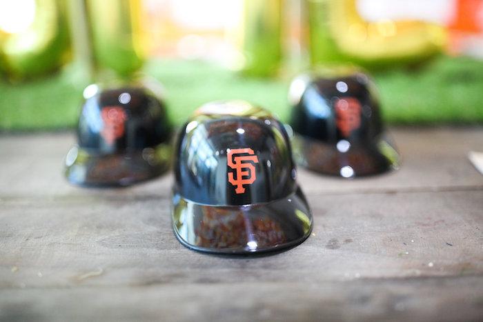 Plastic SF Giants Ball Caps from a San Francisco Giants Baseball Birthday Party on Kara's Party Ideas | KarasPartyIdeas.com (5)