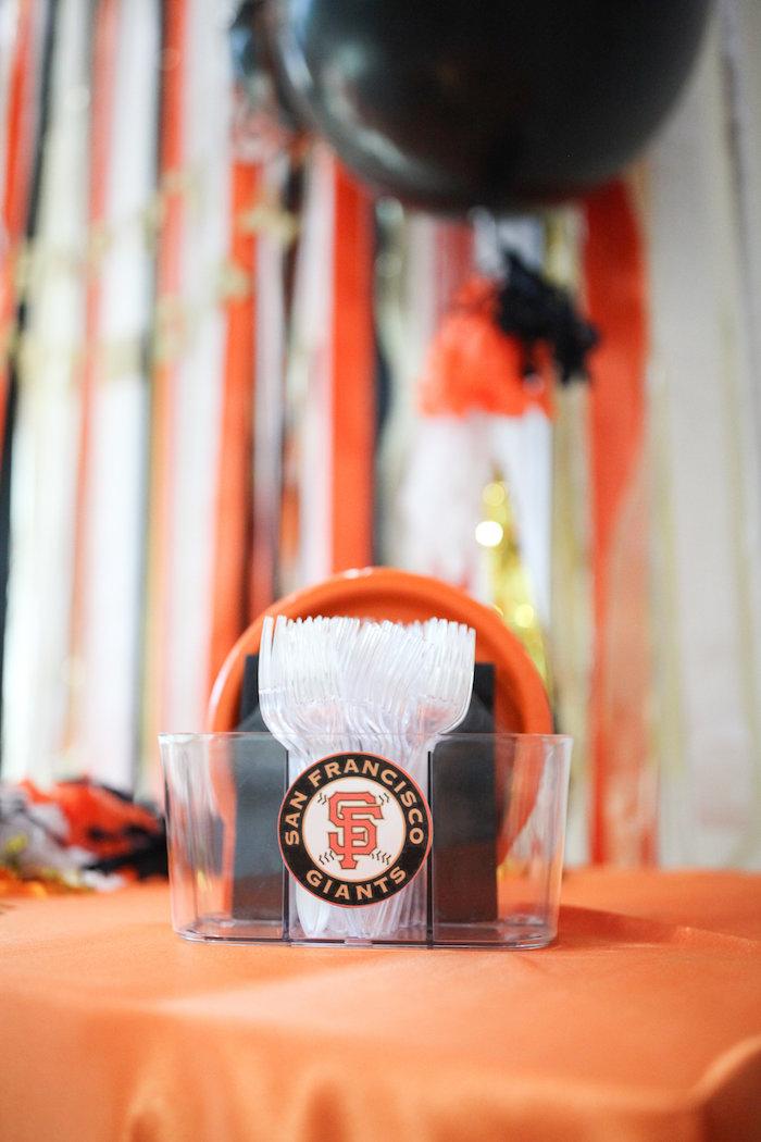 Partyware from a San Francisco Giants Baseball Birthday Party on Kara's Party Ideas | KarasPartyIdeas.com (4)