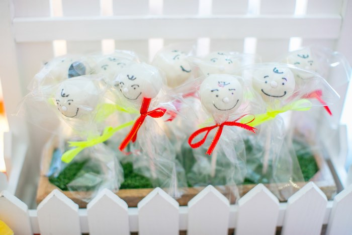 Charlie Brown Cake Pops from a Snoopy Peanuts Birthday Party on Kara's Party Ideas | KarasPartyIdeas.com (12)