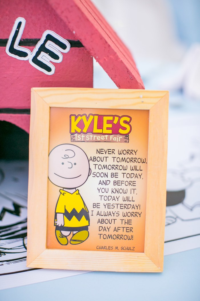 Charlie Brown Print + Signage from a Snoopy Peanuts Birthday Party on Kara's Party Ideas | KarasPartyIdeas.com (26)