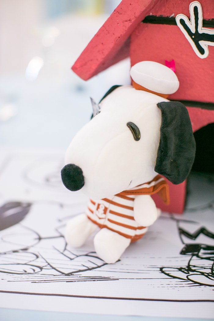 Plush Snoopy from a Snoopy Peanuts Birthday Party on Kara's Party Ideas | KarasPartyIdeas.com (25)