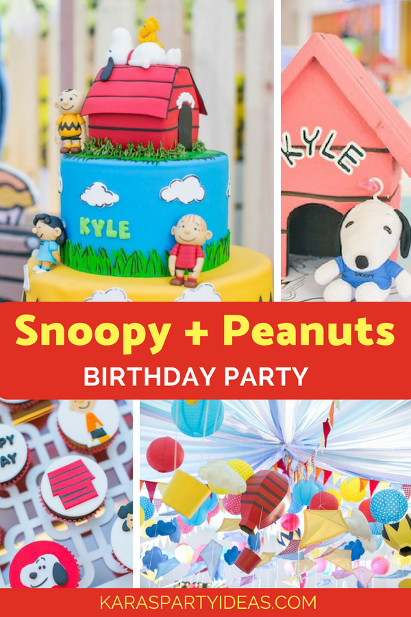 Snoopy + Peanuts Birthday Party via Kara's Party Ideas - KarasPartyIdeas.com