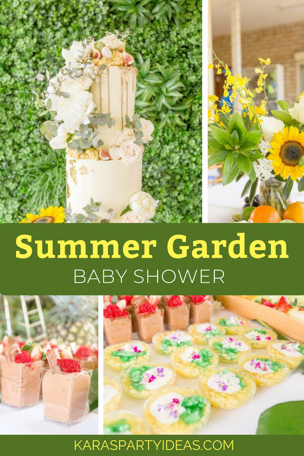 Summer Garden Baby Shower via Kara_s Party Ideas - KarasPartyIdeas.com