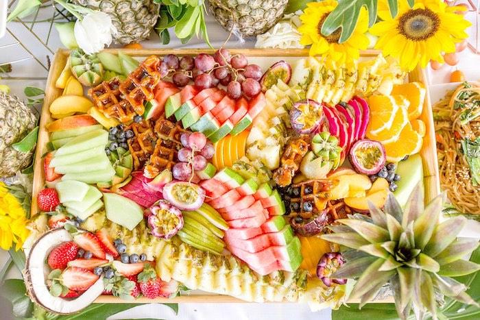 Fruit Platter from a Summer Garden Baby Shower on Kara's Party Ideas | KarasPartyIdeas.com (40)