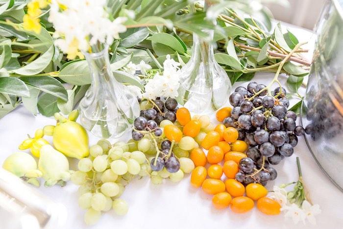 Fresh Fruit Table Garnishment from a Summer Garden Baby Shower on Kara's Party Ideas | KarasPartyIdeas.com (36)