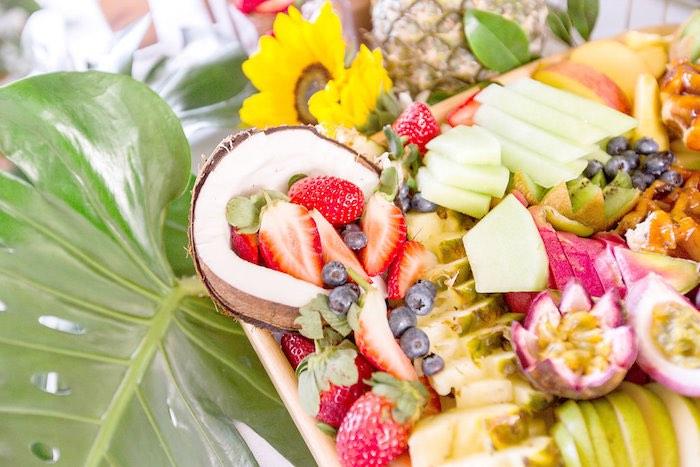 Fruit Tray from a Summer Garden Baby Shower on Kara's Party Ideas | KarasPartyIdeas.com (35)